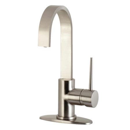 Kingston Brass LS8618NYL New York One-Handle 1-Hole Deck Mounted Bar Faucet, Brushed Nickel