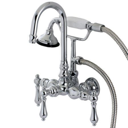 Kingston Brass AE8T1 Aqua Vintage Wall Mount Clawfoot Tub Faucet, Polished Chrome