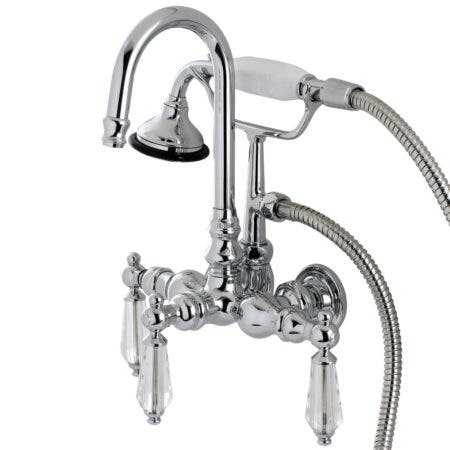 Aqua Vintage AE8T1WLL Wilshire Wall Mount Clawfoot Tub Faucet, Polished Chrome