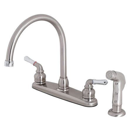 Kingston Brass KB797SP Magellan 8-Inch Centerset Kitchen Faucet, Brushed Nickel/Polished Chrome