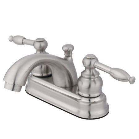 Kingston Brass FB2608KL 4 in. Centerset Bathroom Faucet, Brushed Nickel