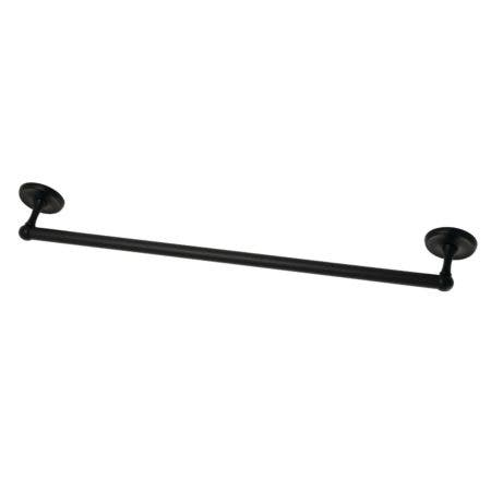 "Kingston Brass BA311MB Classic 24"" Towel Bar, Matte Black"