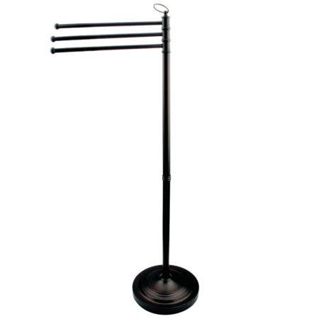 Kingston Brass CC2020 Vintage Pedestal Towel Bar, Matte Black