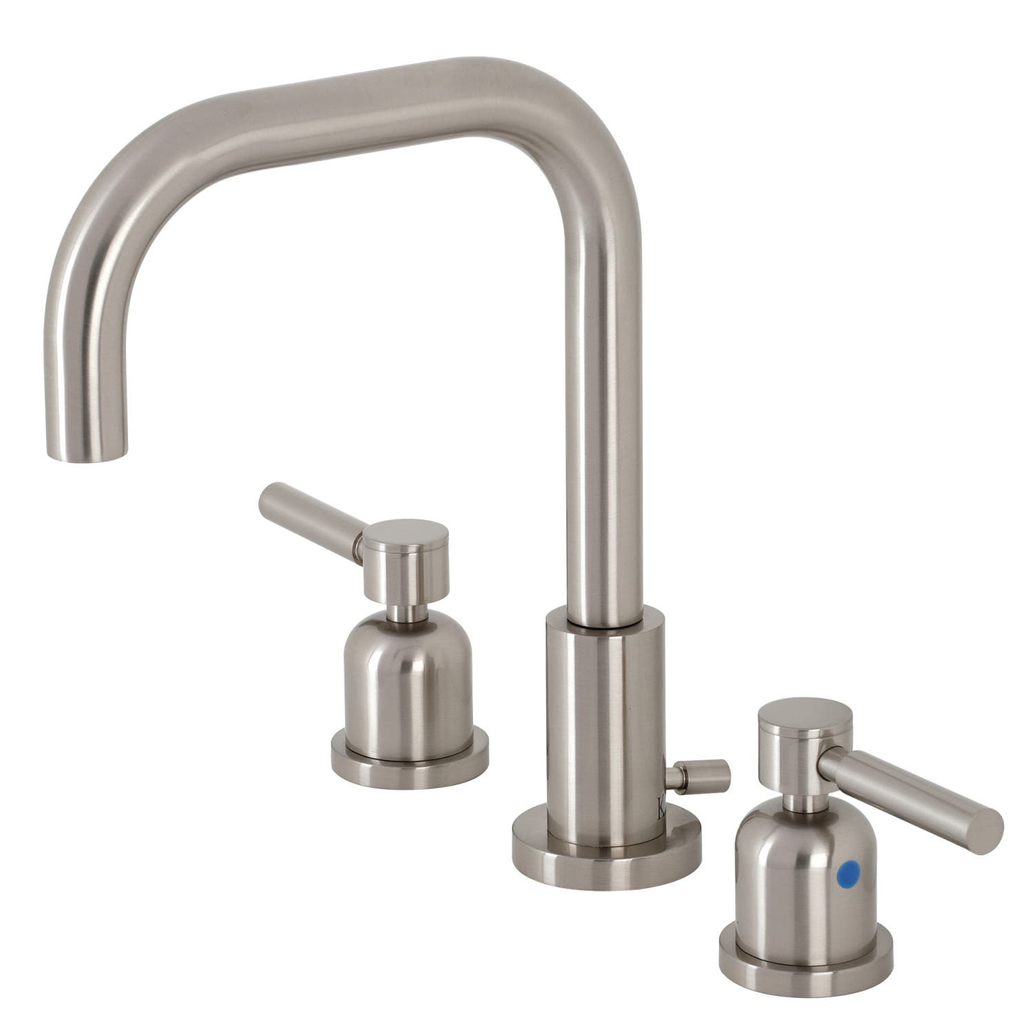Kingston Brass FSC8938DL Concord Widespread Bathroom Faucet with Brass Pop-Up, Brushed Nickel