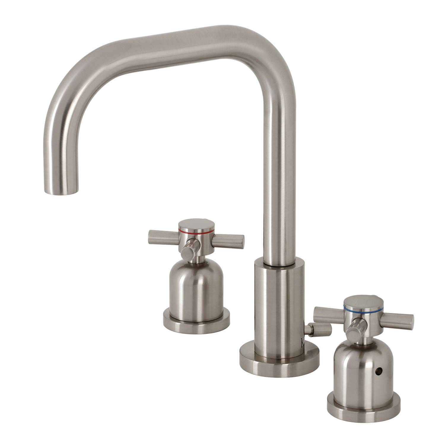 Kingston Brass FSC8938DX Concord Widespread Bathroom Faucet with Brass Pop-Up, Brushed Nickel