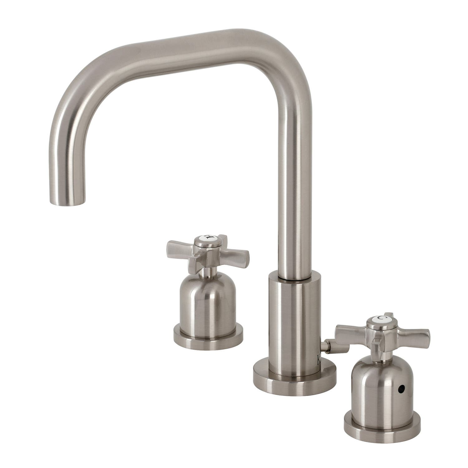 Kingston Brass FSC8938ZX Millennium Widespread Bathroom Faucet with Brass Pop-Up, Brushed Nickel