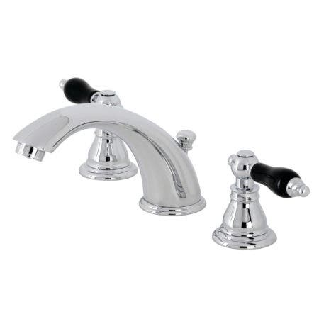 Kingston Brass KB961AKL Duchess Widespread Bathroom Faucet with Plastic Pop-Up, Polished Chrome