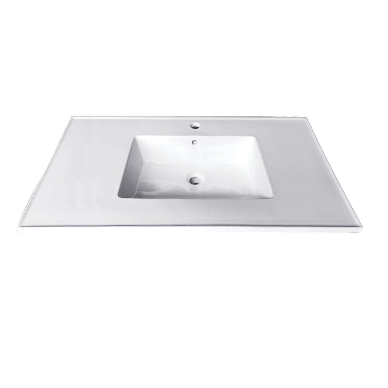 Fauceture Lbt312271 Continental 31 Inch Ceramic Vanity Top 1 Hole White Kingston Brass