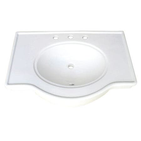 "Fauceture VPB1318B Imperial 31"" x 22"" Ceramic Console Sink Basin, White"