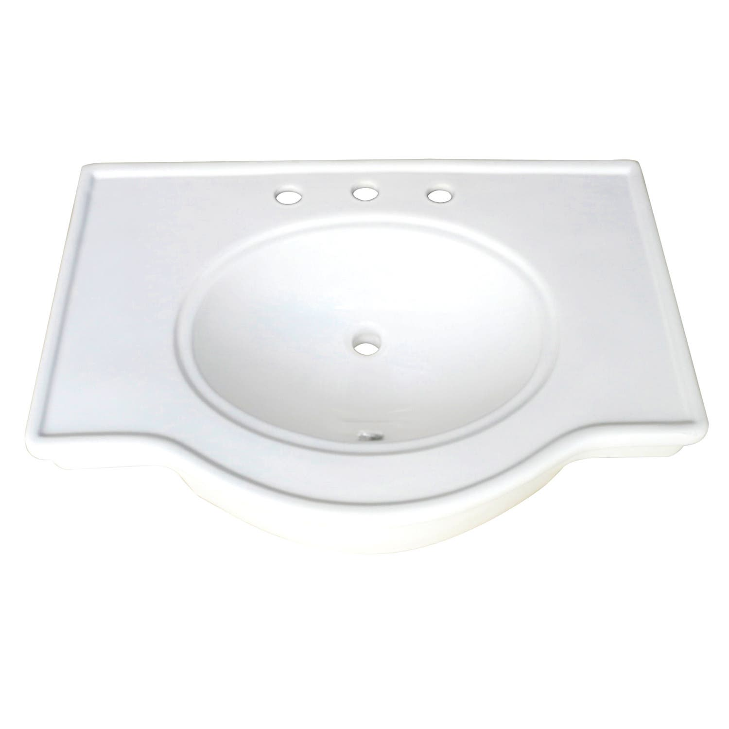 "Fauceture VPB1318B Templeton 31""x22"" Ceramic Console Sink Basin, White"