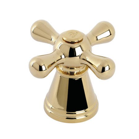 Fauceture FSCH1972AAXC Cold Metal Cross Handle, Polished Brass