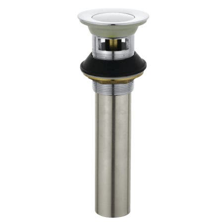 Kingston Brass KB6001 Complement Push-Up Drain with Overflow, Polished Chrome