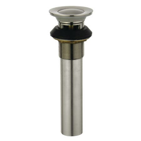 Kingston Brass KB6008 Complement Push-Up Drain with Overflow, Brushed Nickel