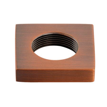 Kingston Brass KSHF295QLLAC Executive Square Handle Flange, Antique Copper