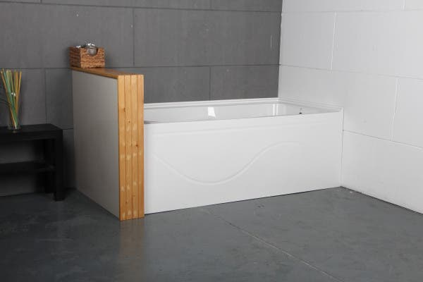 VTAP603022R 60-Inch Acrylic Alcove Tub with Anti Skid and Right Hand Drain Hole, White