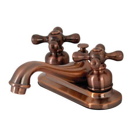 Kingston Brass KB606AX Restoration 4 in. Centerset Bathroom Faucet, Antique Copper