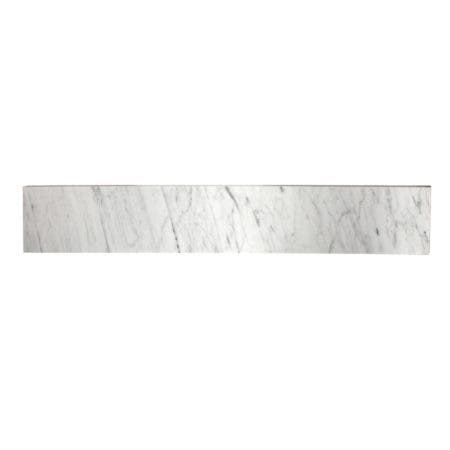 Fauceture KVPB30MBS Templeton 30-Inch Carrara Marble Vanity Top Backsplash, Carrara White