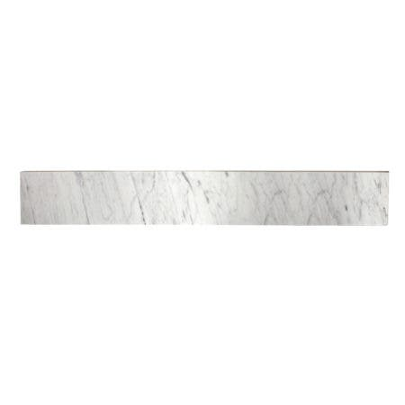 Fauceture KVPB36MBS Templeton 36-Inch Carrara Marble Vanity Top Backsplash, Carrara White