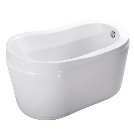 Aqua Eden VTRS523030 52-Inch Acrylic Freestanding Tub with Drain, White