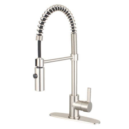 Gourmetier LS8778CTL Continental Single-Handle Pre-Rinse Kitchen Faucet, Brushed Nickel