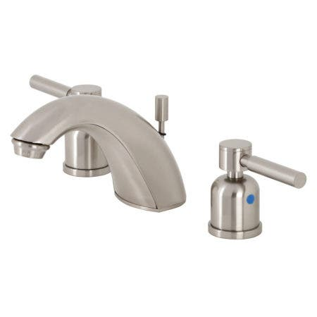 Kingston Brass FB8958DL Mini-Widespread Bathroom Faucet, Brushed Nickel