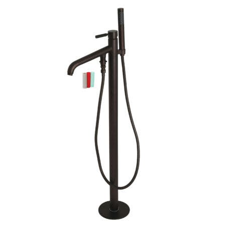 Kingston Brass KS8135DKL Kaiser Floor Mount Tub Filler with Hand Shower, Oil Rubbed Bronze