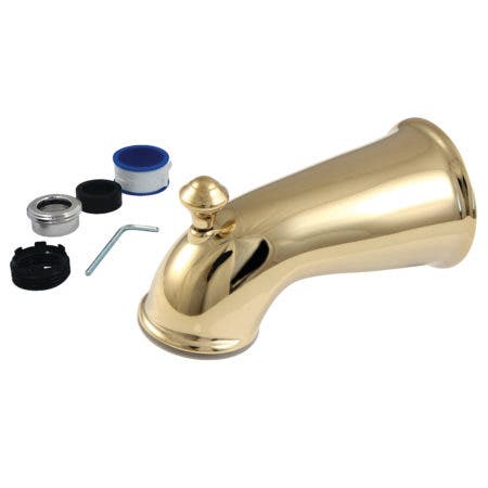 Kingston Brass K1275A2 6 in. Universal Tub Spout with Diverter, Polished Brass