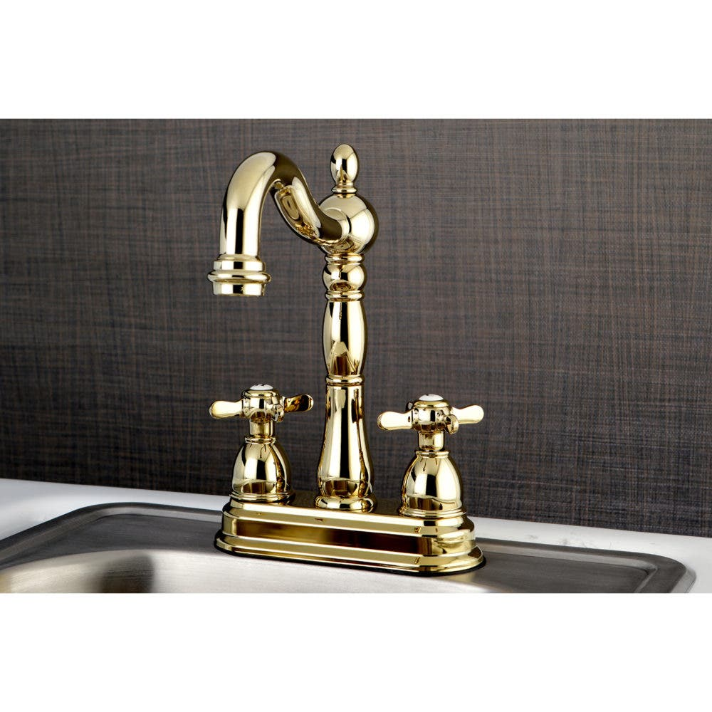 KB1492BEX 4-Inch Centerset Bar Faucet, Polished Brass