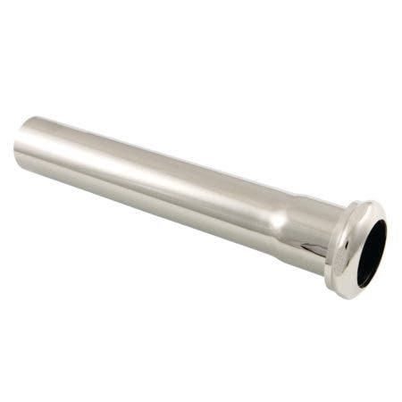 Fauceture EVP1006 Century 8-Inch X 1-1/4 Inch O.D Slip Joint Brass Extension Tube, Polished Nickel