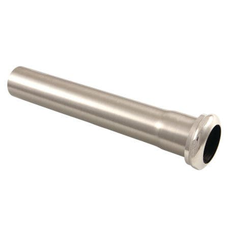 Fauceture EVP1008 Century 8-Inch X 1-1/4 Inch O.D Slip Joint Brass Extension Tube, Brushed Nickel