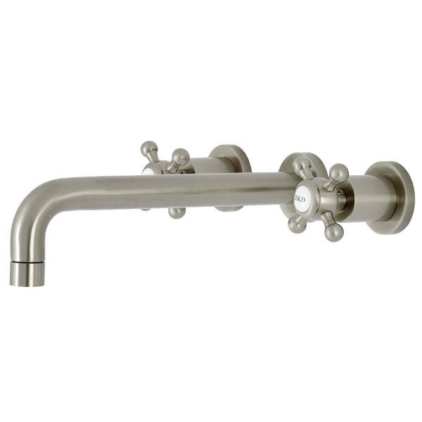 Brushed Nickel Wall Mount Tub Faucet