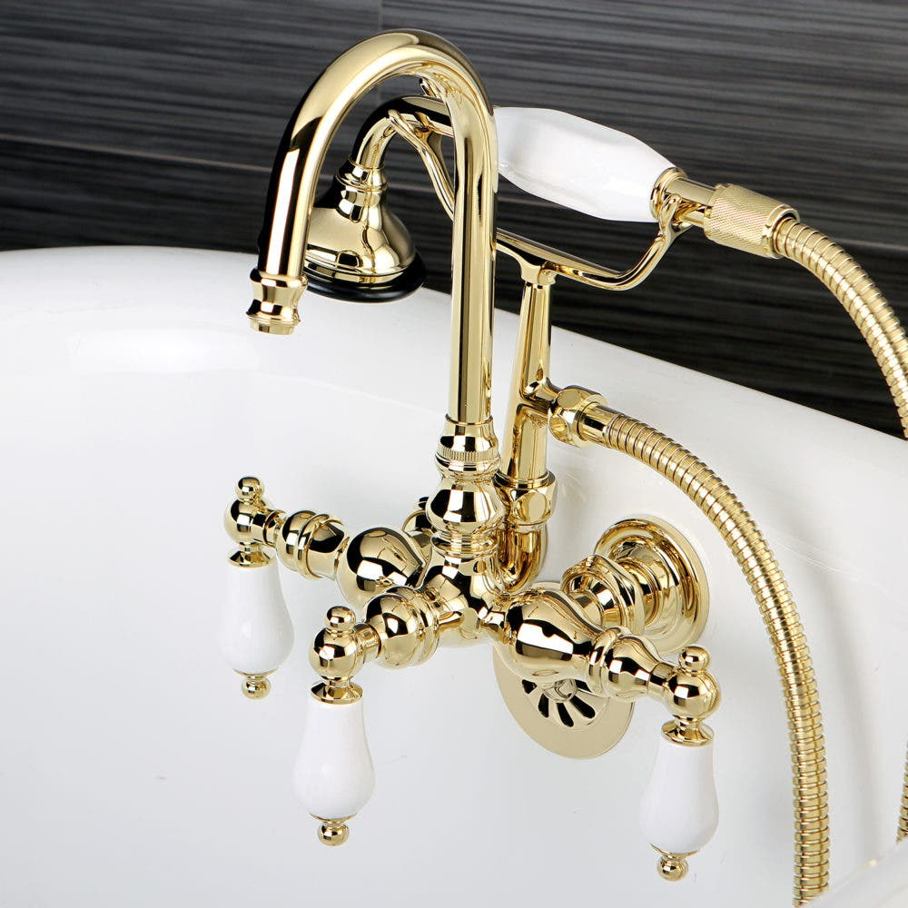 on-tub wall mount faucets