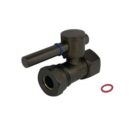 """Fauceture CC44155DL 1/2"""" IPS, 1/2"""" or 7/16"""" Slip Joint Straight Valve, Oil Rubbed Bronze"""