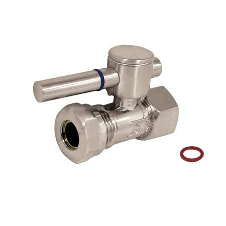"""Fauceture CC44158DL 1/2"""" IPS, 1/2"""" or 7/16"""" Slip Joint Straight Valve, Brushed Nickel"""