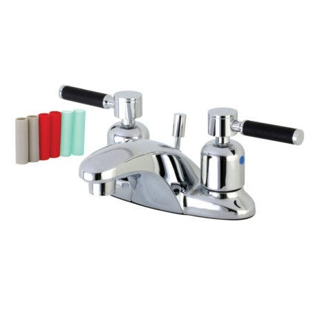 Kingston Brass FB8621DKL 4 in. Centerset Bathroom Faucet, Polished Chrome