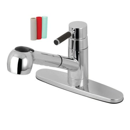 Gourmetier GSC881DKLSP Single-Handle Pull-Out Kitchen Faucet, Polished Chrome