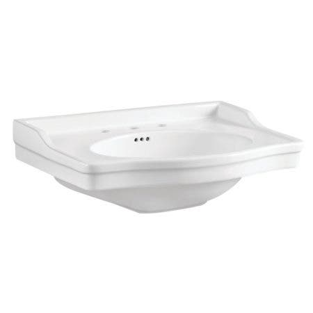 "Fauceture VPB3308B Victorian 30"" x 22"" Ceramic Console Sink Top, White"