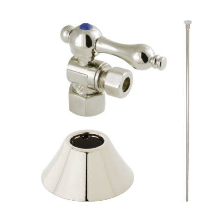 Kingston Brass CC43106TKF20 Traditional Plumbing Toilet Trim Kit, Polished Nickel