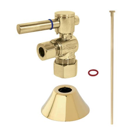 Kingston Brass CC53302DLTKF20 Modern Plumbing Toilet Trim Kit, Polished Brass