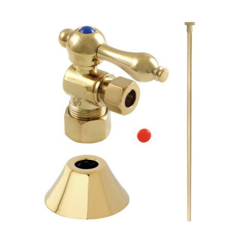 Kingston Brass CC53302TKF20 Traditional Plumbing Toilet Trim Kit, Polished Brass