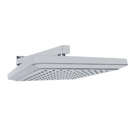"""Kingston Brass K250A1CK Claremont 9-5/8"""" Square Shower Head with Shower Arm, Polished Chrome"""