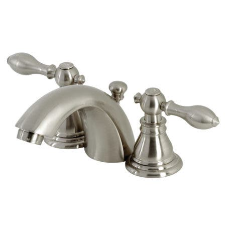 Kingston Brass KB958ACL American Classic Mini-Widespread Bathroom Faucet with Plastic Pop-Up, Brushed Nickel