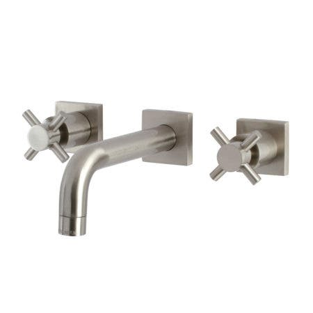Kingston Brass KS6128DX Concord Two-Handle Wall Mount Bathroom Faucet, Brushed Nickel