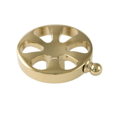 Kingston Brass KSH2962RX Belknap Wheel Cross Handle, Polished Brass