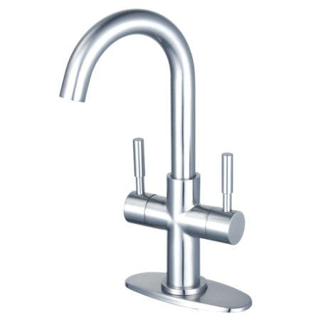 Fauceture LS8451DL Concord Two-Handle Bathroom Faucet with Push Pop-Up, Polished Chrome
