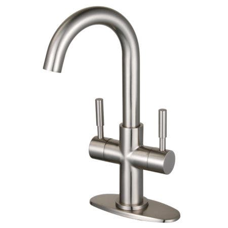 Fauceture LS8458DL Concord Two-Handle Bathroom Faucet with Push Pop-Up, Brushed Nickel