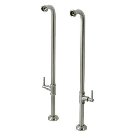 Kingston Brass AE810S8DL Concord Freestanding Tub Supply Line, Brushed Nickel