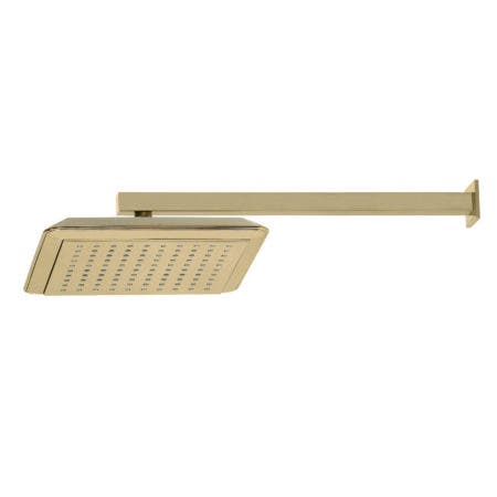 """Kingston Brass K251A2CK Claremont 9-5/8"""" Square Shower Head with Shower Arm, Polished Brass"""