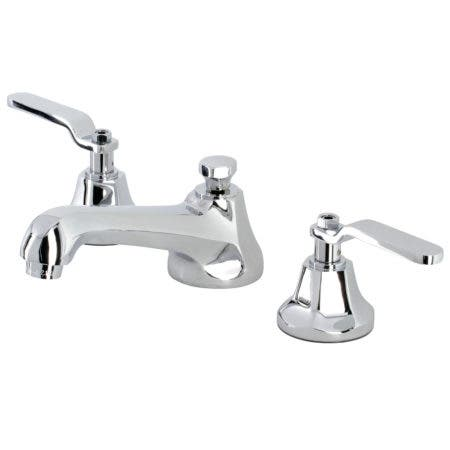 Kingston Brass KS4461KL Whitaker Widespread Bathroom Faucet with Brass Pop-Up, Polished Chrome