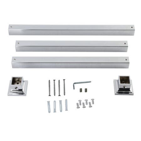 Kingston Brass VPB3322SQ1H Monarch Console Sink Legs Wall Support, Polished Chrome